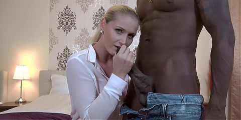 blonde euro girl sucks bbc