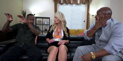 Rachael Cavalli gets stretched by two BBCs