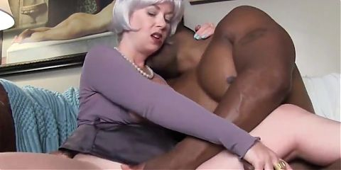 Sexy blonde wife and her black boss
